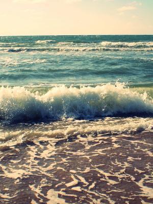 海岸波浪手机壁纸