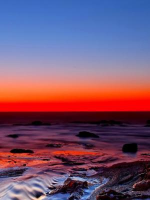 日落水景移动壁纸