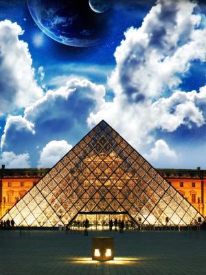 巴黎建筑物云彩手机壁纸