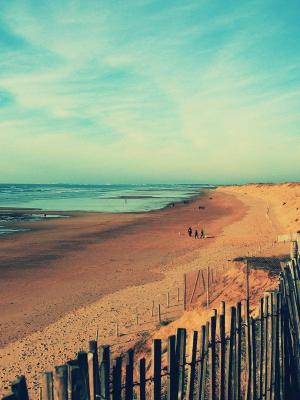 海滩LOMO手机壁纸