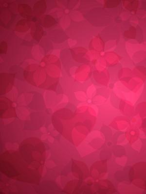 红色花卉移动壁纸