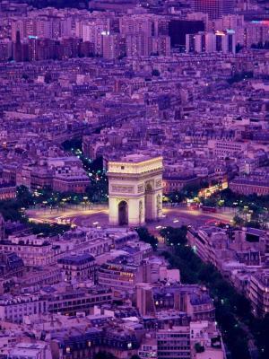 凯旋门巴黎移动壁纸