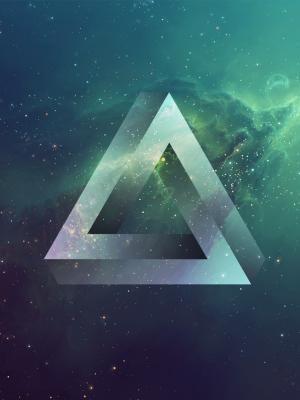 不可能的三角形流动墙纸